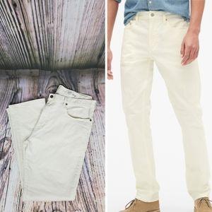 Cremieux Straight Cream Jeans  38 x 32